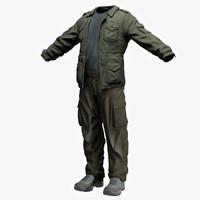 military uniform 3D models