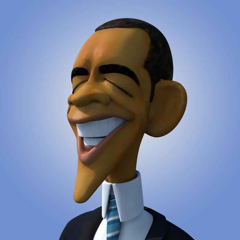 Barack Obama Caricature Rigged
