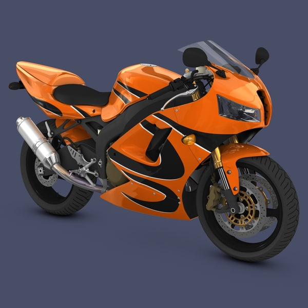 Generic 2000's Sport Bike 3D Models
