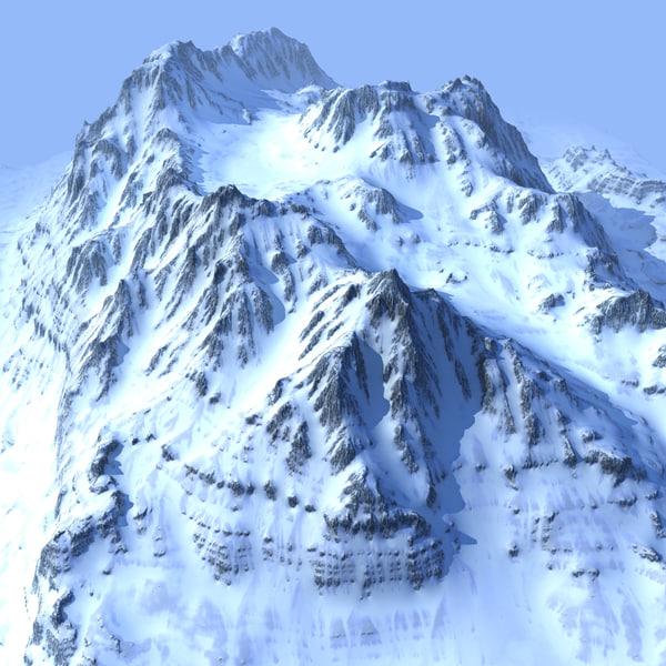 Snowy Mountain 3D Models