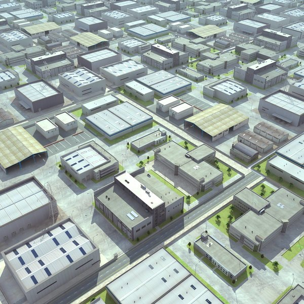 Warehouses Industrial Plant(1) 3D Models