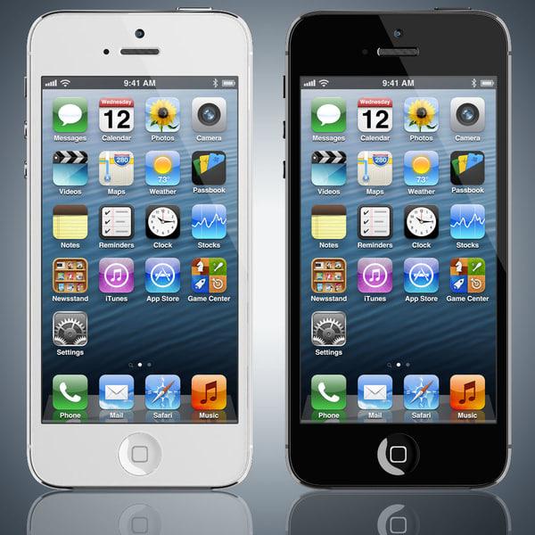 Apple iPhone 5 3D Models