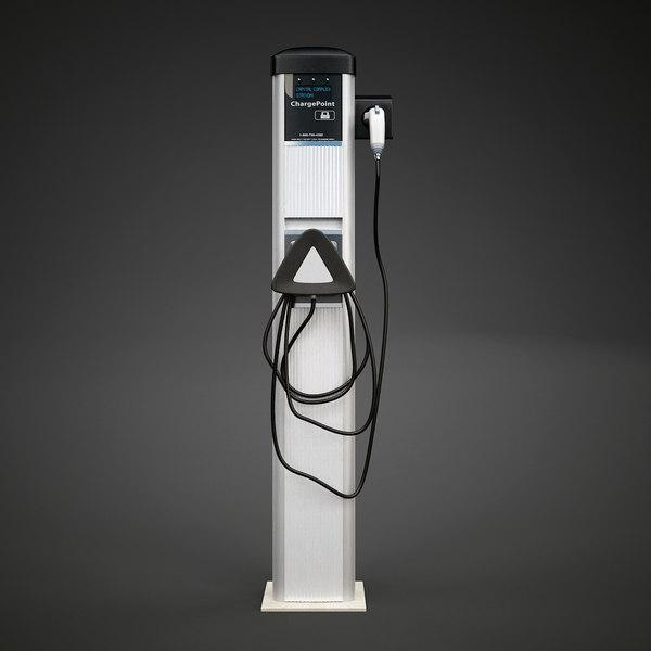 EV Charging Station 3D Models