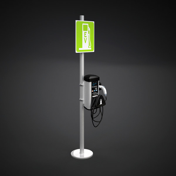 Electric Vehicle Charging Station 3D Models