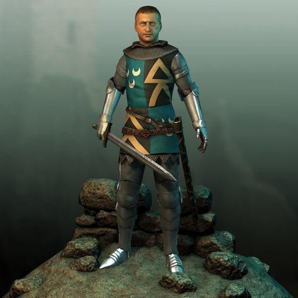 Medieval Knight 3D Models