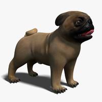 Pug 3D models