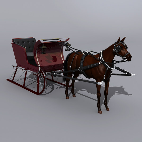 Horse and Sled 3D Models