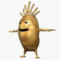 Vegetable Character 3D models