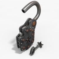 Padlock 3D models
