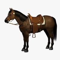 saddled horse 3D models