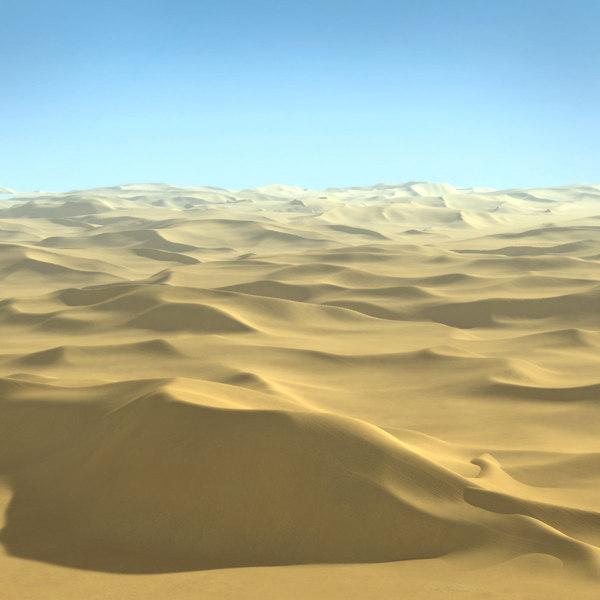 Desert Terrain Sahara Landscape 3D Models