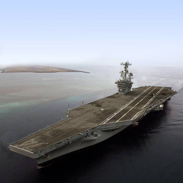 CVN 74 Aircraft Carrier 3D Models