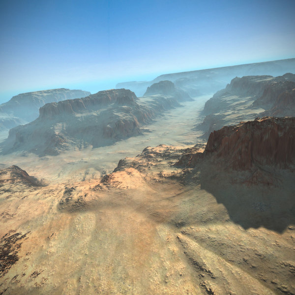 Canyon Terrain Mountains 3D Models