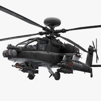 apache helicopters 3D models