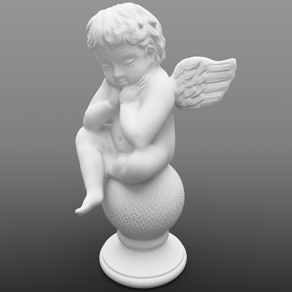 Angel Statuette 2 3D Models