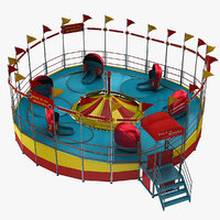 amusement park ride 3D models