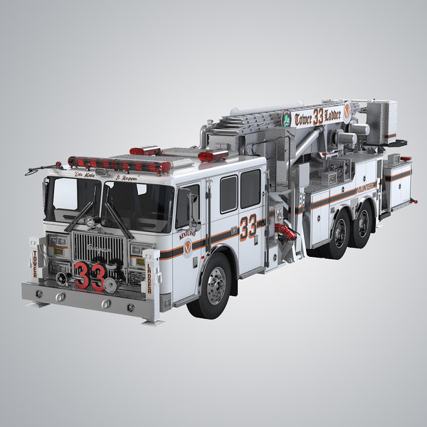 Seagrave Aerialscope Tower Ladder 3D Models