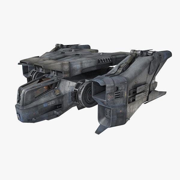 SciFi Fighter 3D Models
