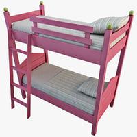 bunk bed 3D models