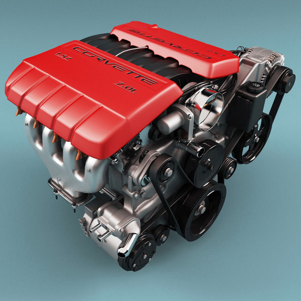 Chevrolet Corvette LS7 Engine 3D Models