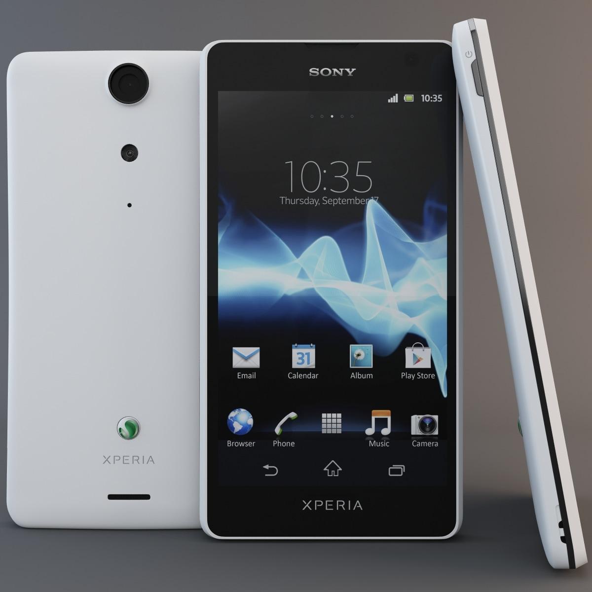 3d white sony xperia gx