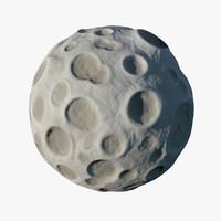 cartoon moon 3D models