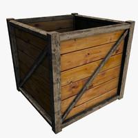 wooden box 3D models