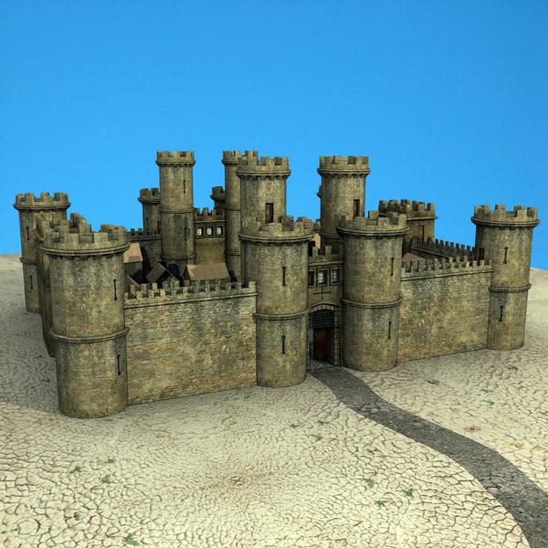 Medieval Castle 3D Models