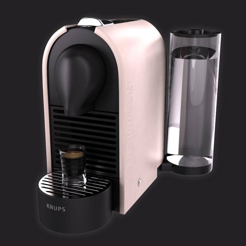 3d nespresso krups u model. Black Bedroom Furniture Sets. Home Design Ideas