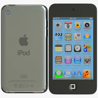 Apple iPod Touch 4G 3D models