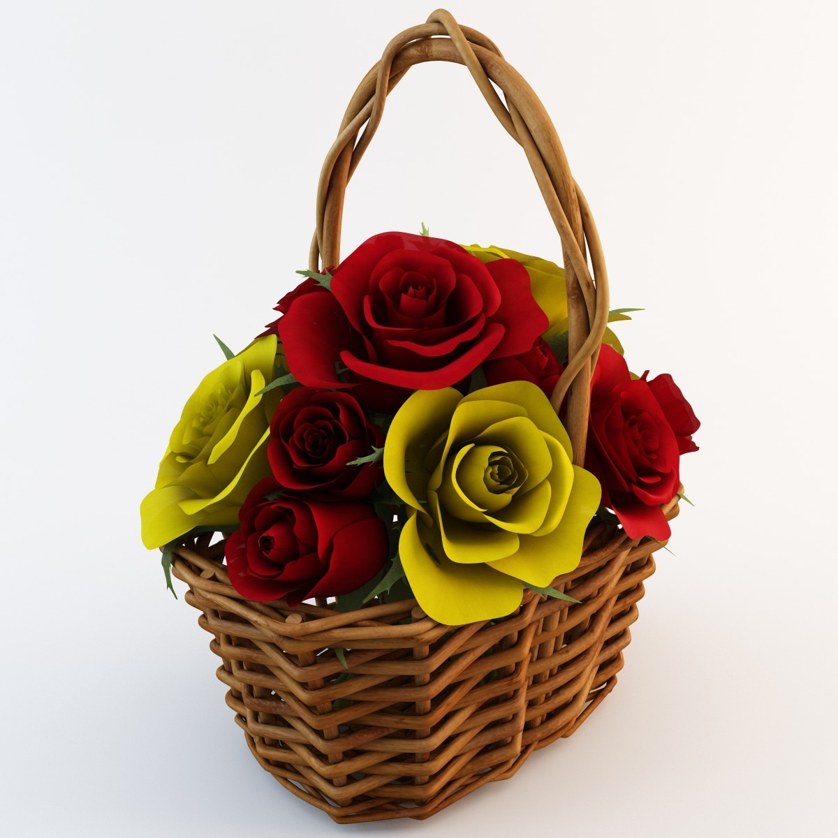 3d bouquet flower 10