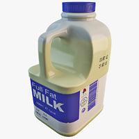 milk jug 3D models