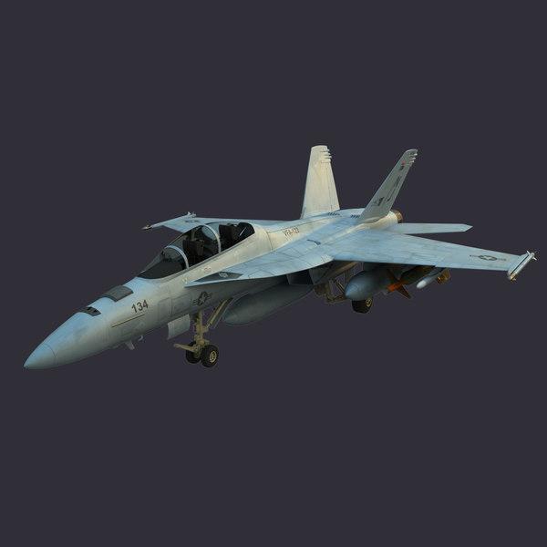 F/A 18F Super Hornet 3D Models