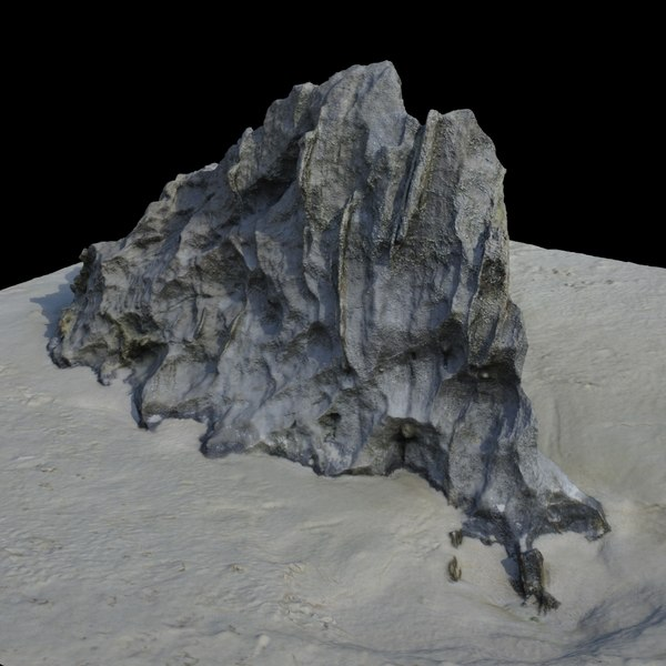 Rock 3D Scan 02 Texture Maps