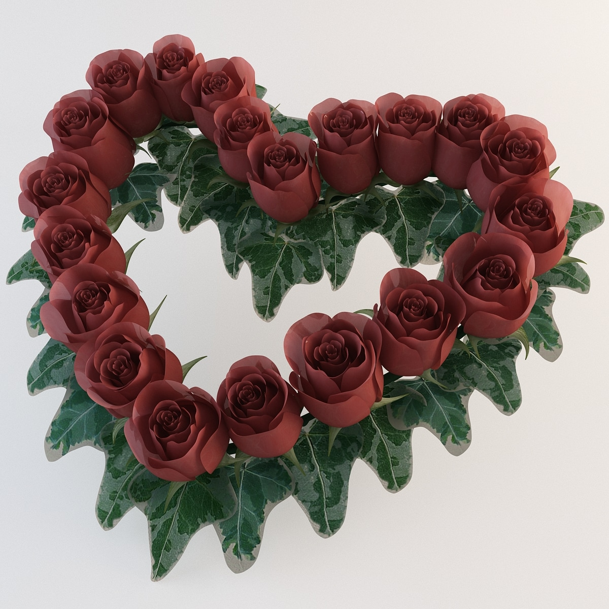 Heart Shaped Wreath with Roses