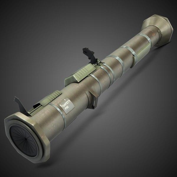 AT4 ( M136 ) Antitank Grenade Launcher 3D Models
