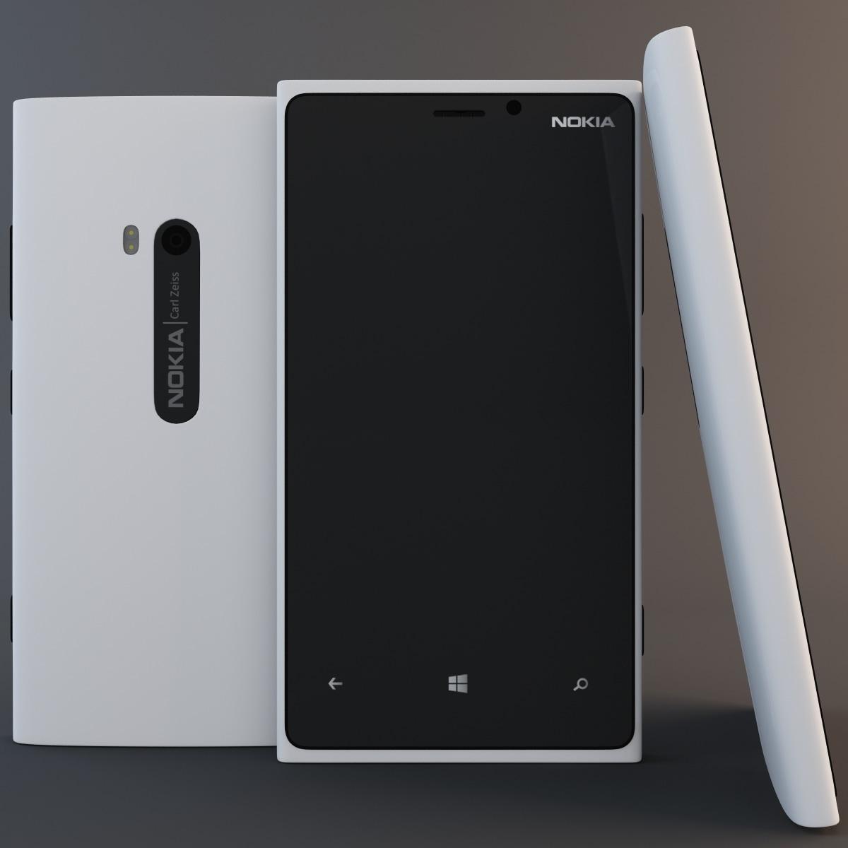 white nokia lumia 920 3d model. Black Bedroom Furniture Sets. Home Design Ideas