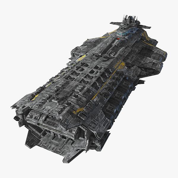 SciFi Frigate 3D Models