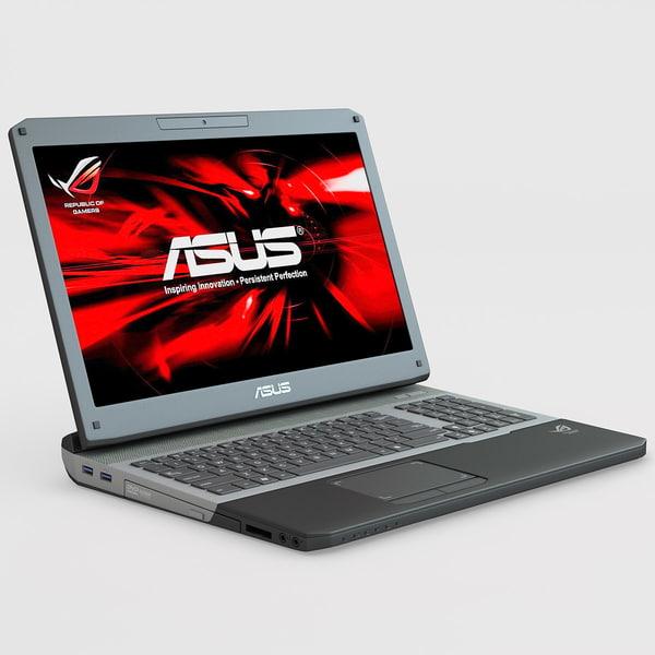 Laptop ASUS G75VW 3D Models