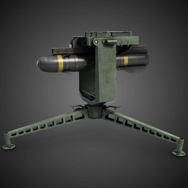 Surface Hellfire Missile Launcher 3D Models