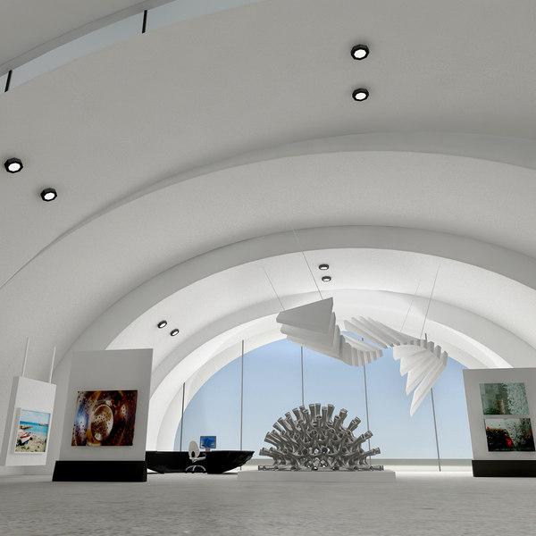Modern Art Gallery 3D Models
