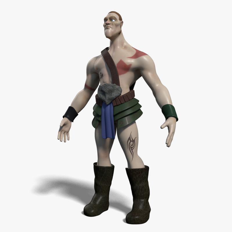 3d model of a cartoon warrior_00000.jpg