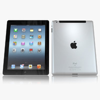 Apple iPad 3 3D models
