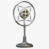 retro microphone 3D models