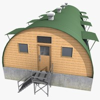 barracks 3D models