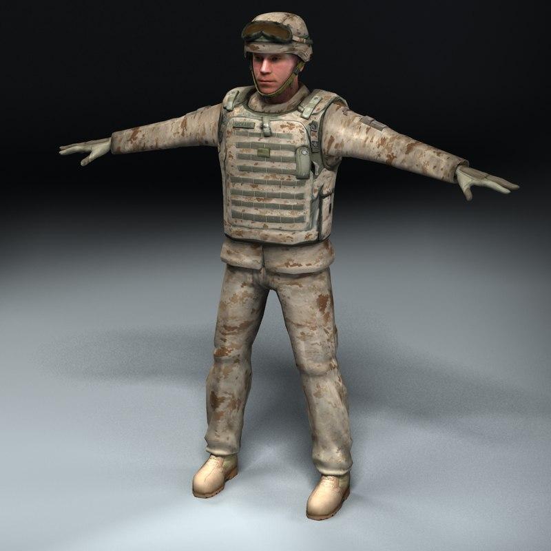 USMC Soldier D
