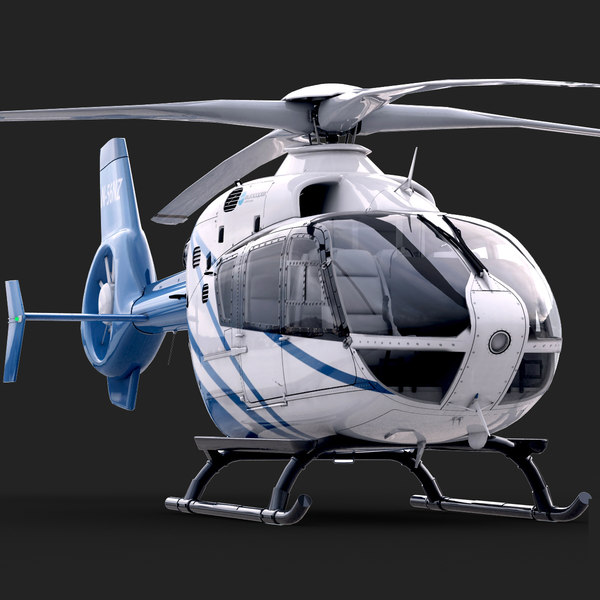 EC 135 Private Blue Texture Maps