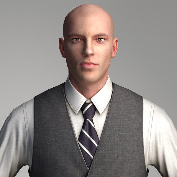 Businessman 3 - Low Polygon Character 3D Models