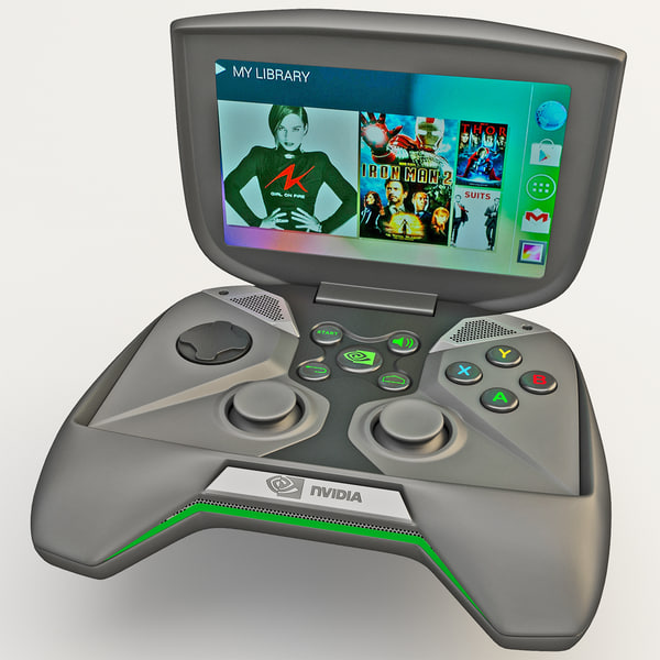 Portable Handheld PC NVIDIA Project Shield 3D Models
