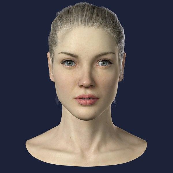 Female Head 3D Models